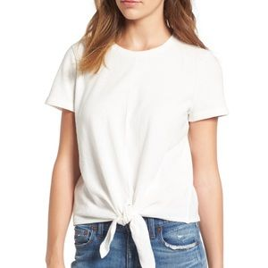 Madewell Texture & Thread Modern Tie Front Top S